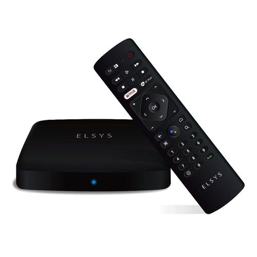 Receptor Elsys Streaming Box Android ETRI02 com Controle Remoto.