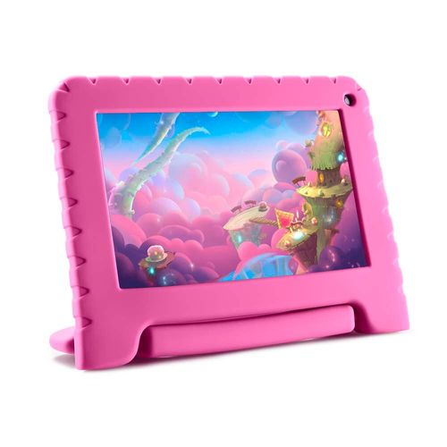 Tablet Kid Pad Go Multilaser 7 Pol. 16GB Quad Core Android 8.1 Rosa - NB303 NB303